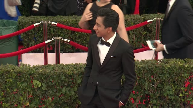 tony revolori at the 21st annual screen actors guild awards - arrivals at the shrine auditorium on january 25, 2015 in los angeles, california. - shrine auditorium stock videos & royalty-free footage