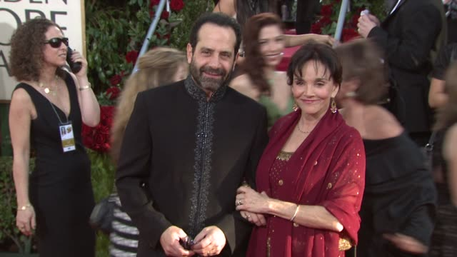 Tony Shalhoub and Brooke Adams at the 66th Annual Golden Globe Awards Arrivals Part 4 at Los Angeles CA