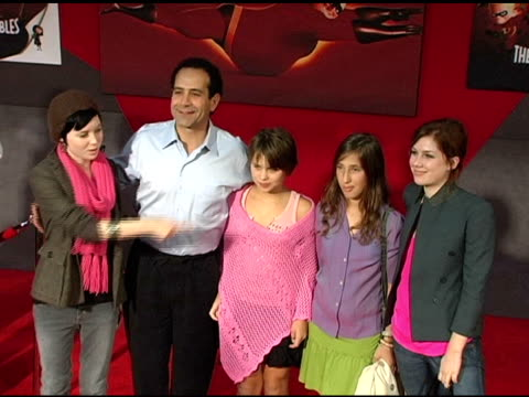 tony shalhoub and family at the 'the incredibles' premiere at the el capitan theatre in hollywood california on october 25 2004 - el capitan theatre stock videos & royalty-free footage