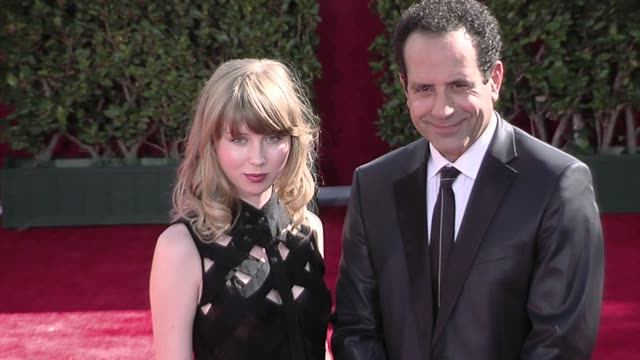 Tony Shalhoub and guest at the 61st Annual Primetime Emmy Awards Arrivals Part 3 at Los Angeles CA