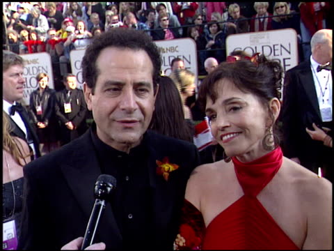 Tony Shalhoub at the 2004 Golden Globe Awards at the Beverly Hilton in Beverly Hills California on January 25 2004
