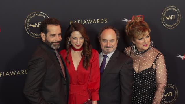 Tony Shalhoub Marin Hinkle Kevin Pollak and Caroline Aaron at the AFI Awards 2018 at Four Seasons Hotel Los Angeles at Beverly Hills on January 04...