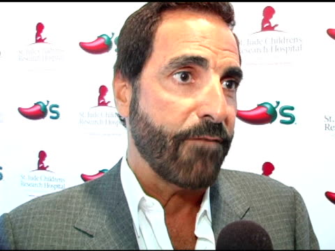 tony thomas on st jude's and its global effects on chili's involvement and on their generous contributions at the chili's create a pepper to benefit... - chili's grill & bar stock videos and b-roll footage