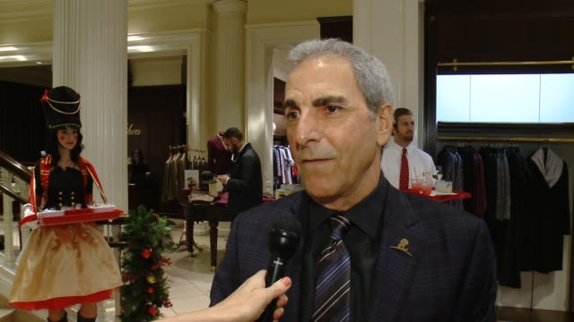 interview tony thomas on st jude's the brooks brothers event at brooks brothers celebrates the holidays with st jude children's research hospital and... - st. jude children's research hospital stock videos and b-roll footage