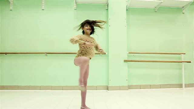 Too cute little girl dancing modern ballet
