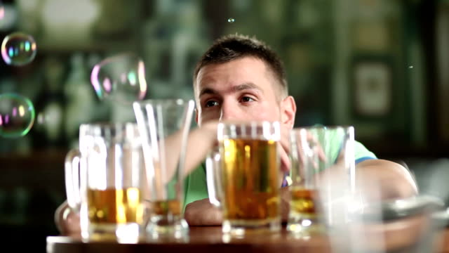 too much beer - alcohol abuse stock videos & royalty-free footage