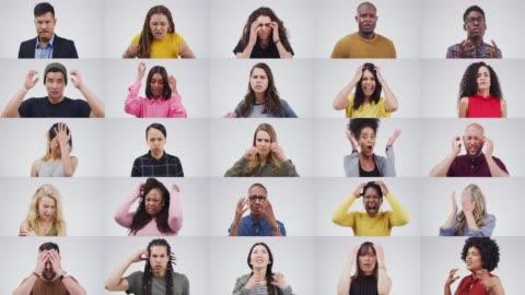 stockvideo's en b-roll-footage met te veel stress kan rijden iedereen krankzinnig - frustratie