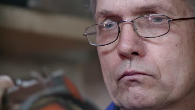 hd: toolmaker using the vernier callipers - vernier calliper stock videos & royalty-free footage