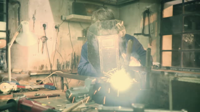 HD DOLLY: Toolmaker Welding In Workshop