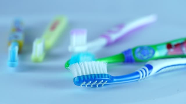 toothbrush - toothbrush stock videos & royalty-free footage