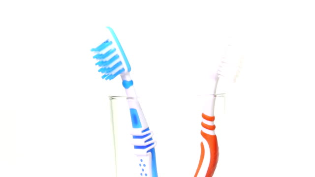 toothbrushes - toothbrush stock videos and b-roll footage