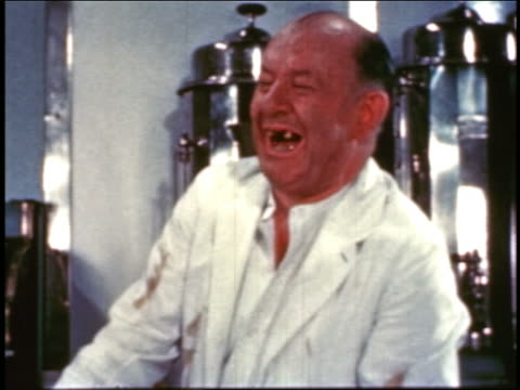 1954 toothless cook in diner laughing / educational - 1954 stock videos & royalty-free footage