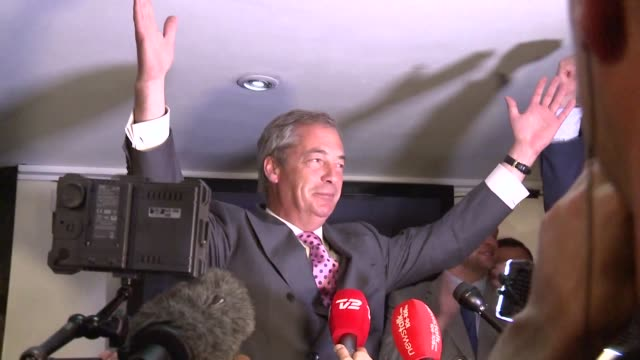 top anti eu campaigner nigel farage said he was increasingly confident of victory in britain's eu referendum on friday voicing hope that the result... - referendum stock videos & royalty-free footage