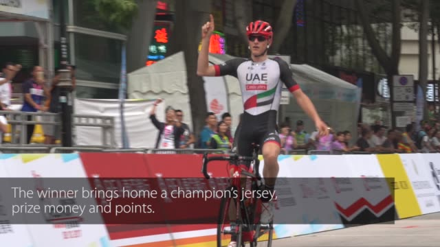 top cyclists of 17 professional teams from 12 countries and regions compete in the first uci asia tour class 11 road race at hong kong cyclothon... - cycling event stock videos & royalty-free footage