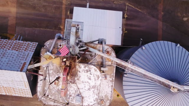 top down aerial view of lumber yard silo - umatilla stock videos and b-roll footage