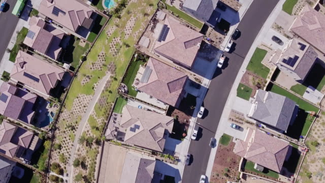 top down flight over california suburbs - santa clarita stock videos & royalty-free footage