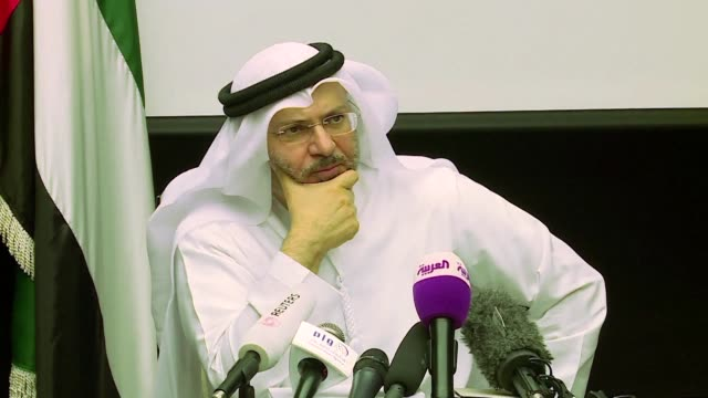 a top emirati diplomat said on saturday that us and european guarantees would be needed to monitor any future agreement aimed at ending a row between... - botschafter stock-videos und b-roll-filmmaterial
