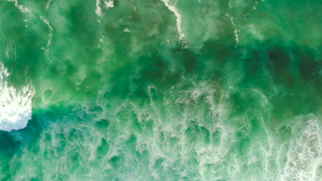 vídeos de stock e filmes b-roll de top looking down at sea. - sustainable resources