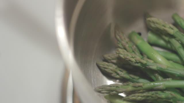 Top of Asparagus in Pan