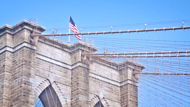 Top of Brooklyn Bridge, New York