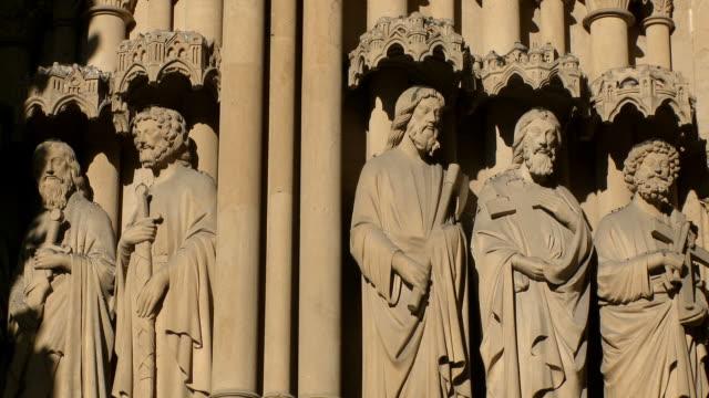 cu top of  cathedral saint-etienne de metz  / metz, lorraine, france - lorraine bildbanksvideor och videomaterial från bakom kulisserna