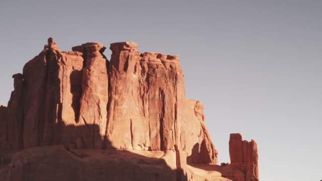 top of rock face in moab, utah - rock face stock videos & royalty-free footage