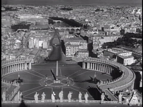 piazza san pietro tu obelisk topped w/ christian cross hs xws many people christian pilgrims walking in st peter's square the holy see iconic... - st peter's square stock videos & royalty-free footage