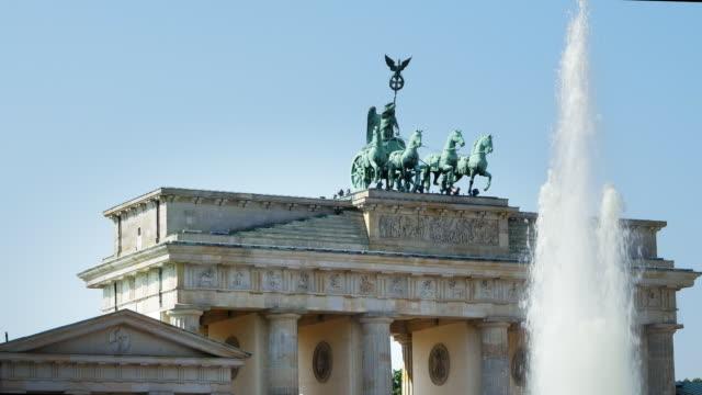 Top Of The Brandenburg Gate And Its Quadriga (4K/UHD to HD)