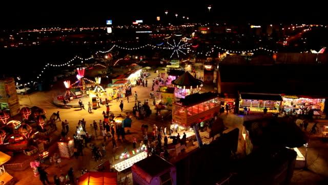 POV Top of the Ferris wheel above the carnival/ Ciudad Juárez/ Mexico