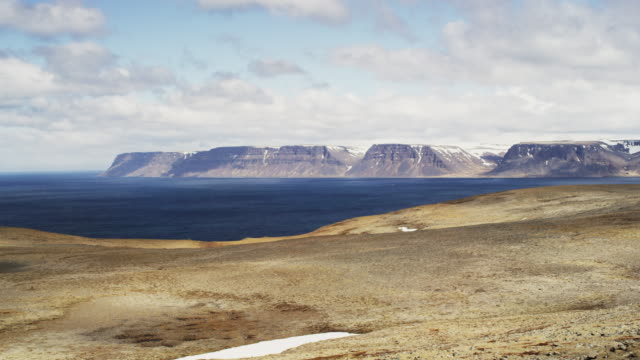 top of the fjord time lapse in iceland - ledge stock videos & royalty-free footage