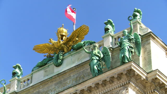 top of the vienna hofburg palace cinemagraph - vienna austria stock videos & royalty-free footage