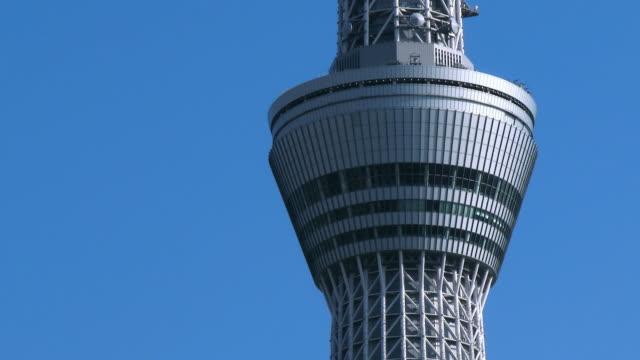 ms top part of tokyo skytree / tokyo, japan - スカイツリー点の映像素材/bロール