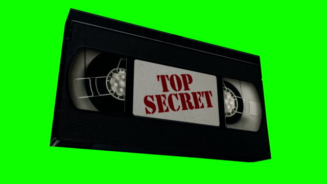 vhs top secret tape animation - analog stock videos and b-roll footage