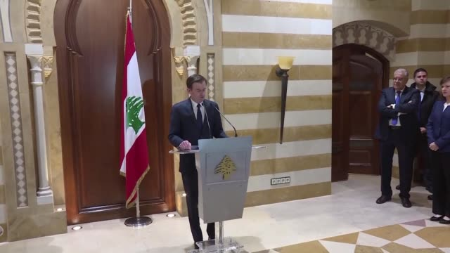 a top us envoy warns that lebanon's inability to form a government is endangering the tiny mediterranean country and its struggling economy - lebanon country stock videos & royalty-free footage