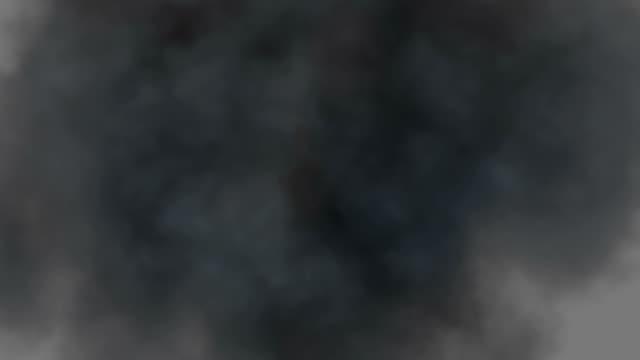 Ansicht von oben-explosion mit Rauch kommt Bei cam, Luma Matt