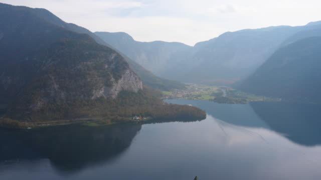 top view from salt mine new hallstatt,austria - dachstein mountains stock videos and b-roll footage