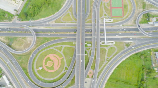 top view intersection in Thailand