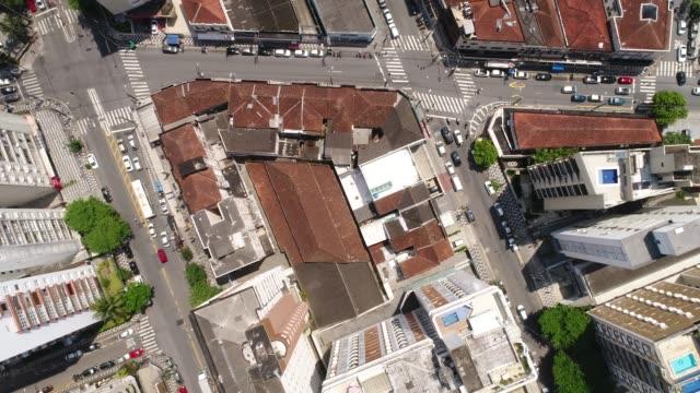 Top view of a Brazilian city