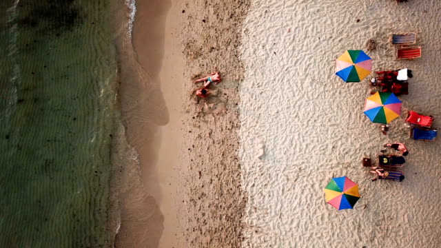 top view of a tropical beach - koh chang stock videos and b-roll footage