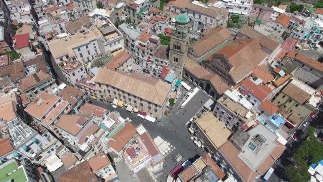 top view of amalfi church in italy - piazza video stock e b–roll