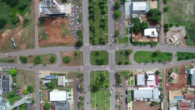 top view of an avenue in palmas, tocantins - tocantins stock videos and b-roll footage