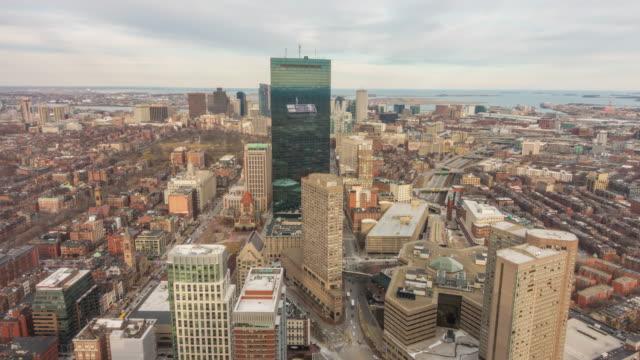aufsicht von boston stadt zentrum - boston stock-videos und b-roll-filmmaterial