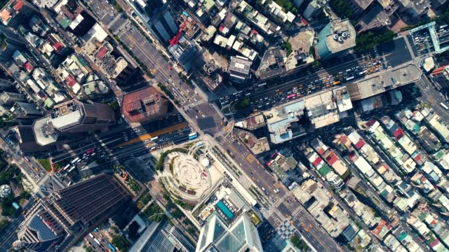 top view of business district - taipei stock videos & royalty-free footage