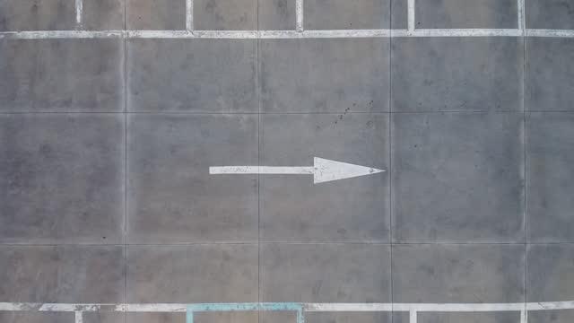 stockvideo's en b-roll-footage met top view of car at parking lot / gyeonggi-do, south korea - parking