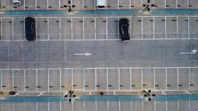 top view of car at parking lot / gyeonggi-do, south korea - parking stock videos & royalty-free footage