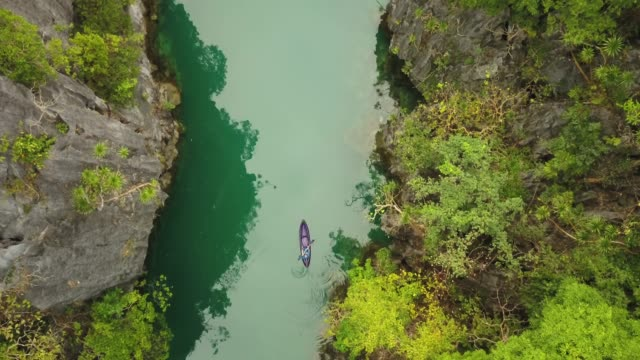 top view of kayak in beautiful lagoon - philippines stock videos & royalty-free footage