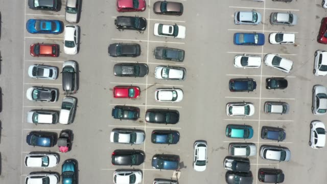 top view of parking area - parking stock videos & royalty-free footage