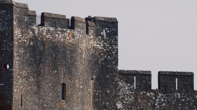 stockvideo's en b-roll-footage met ms top view of pembroke castle / pembroke, wales, united kingdom - pembroke