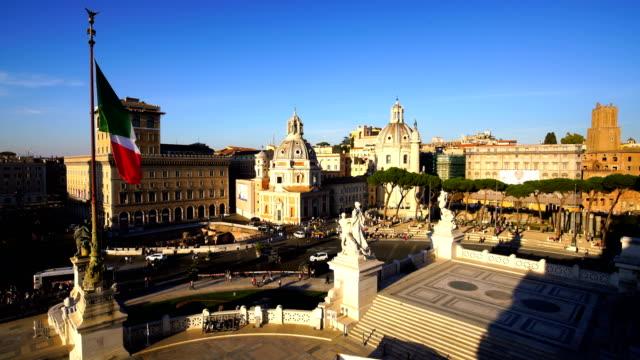 Draufsicht der Skyline der Stadt Rom