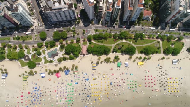top view of santos in the state of sao paulo, brazil - parasol stock videos & royalty-free footage